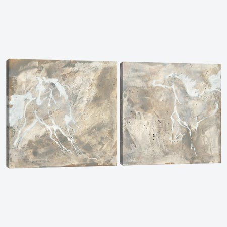 White Horse Diptych Canvas Print Set #WAC2HSET164} by Chris Paschke Canvas Art
