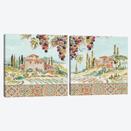 Tuscan Breeze Diptych Canvas Print Set #WAC2HSET165} by Daphne Brissonnet Canvas Artwork