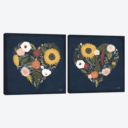 Autumn Romance Diptych Canvas Print Set #WAC2HSET166} by Laura Marshall Canvas Artwork