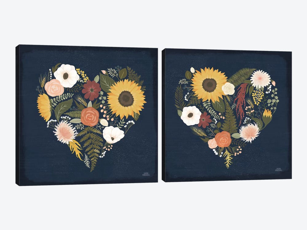 Autumn Romance Diptych by Laura Marshall 2-piece Canvas Wall Art