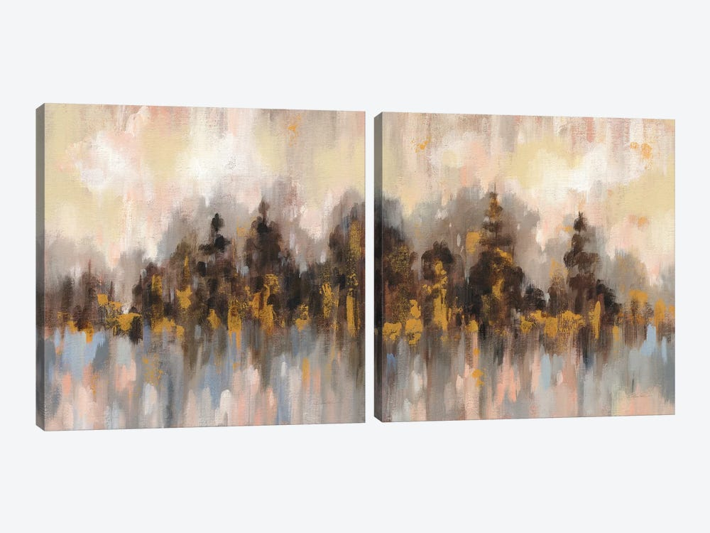 Blushing Forest Diptych by Silvia Vassileva 2-piece Canvas Art Print