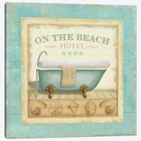Beach Hotel I  Canvas Print #WAC300} by Daphne Brissonnet Canvas Art Print