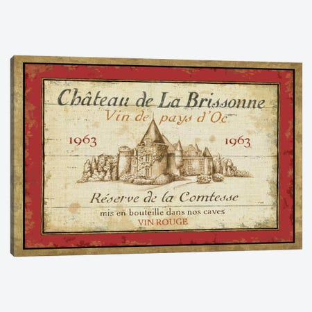 French Wine Labels I  Canvas Print #WAC306} by Daphne Brissonnet Canvas Wall Art
