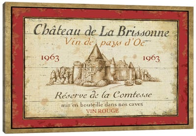 French Wine Labels I  Canvas Art Print