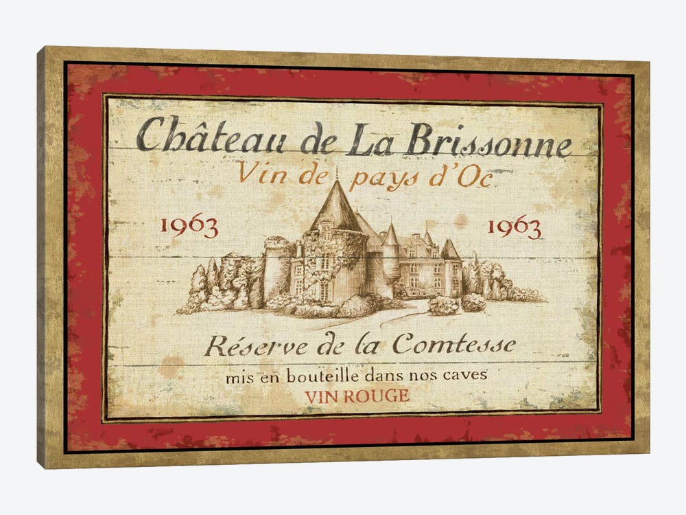 French Wine Labels I by Daphne Brissonnet 1-piece Canvas Art