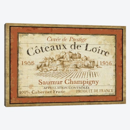 French Wine Labels II  Canvas Print #WAC307} by Daphne Brissonnet Canvas Art