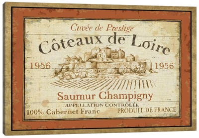 French Wine Labels II  Canvas Art Print