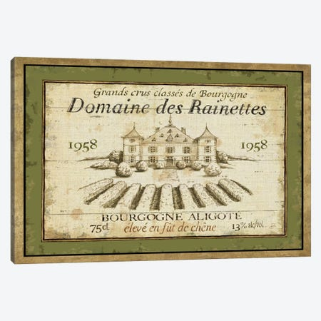 French Wine Label III  Canvas Print #WAC308} by Daphne Brissonnet Art Print