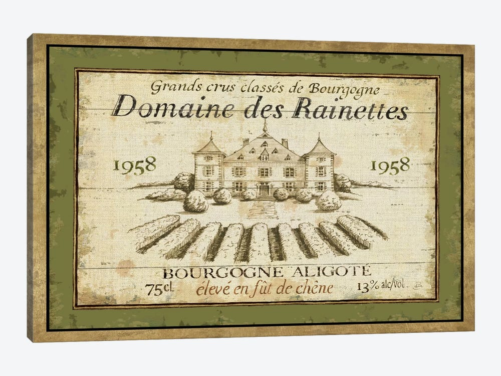 French Wine Label III  1-piece Canvas Artwork