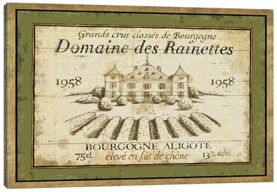 French Wine Label III  Canvas Art Print