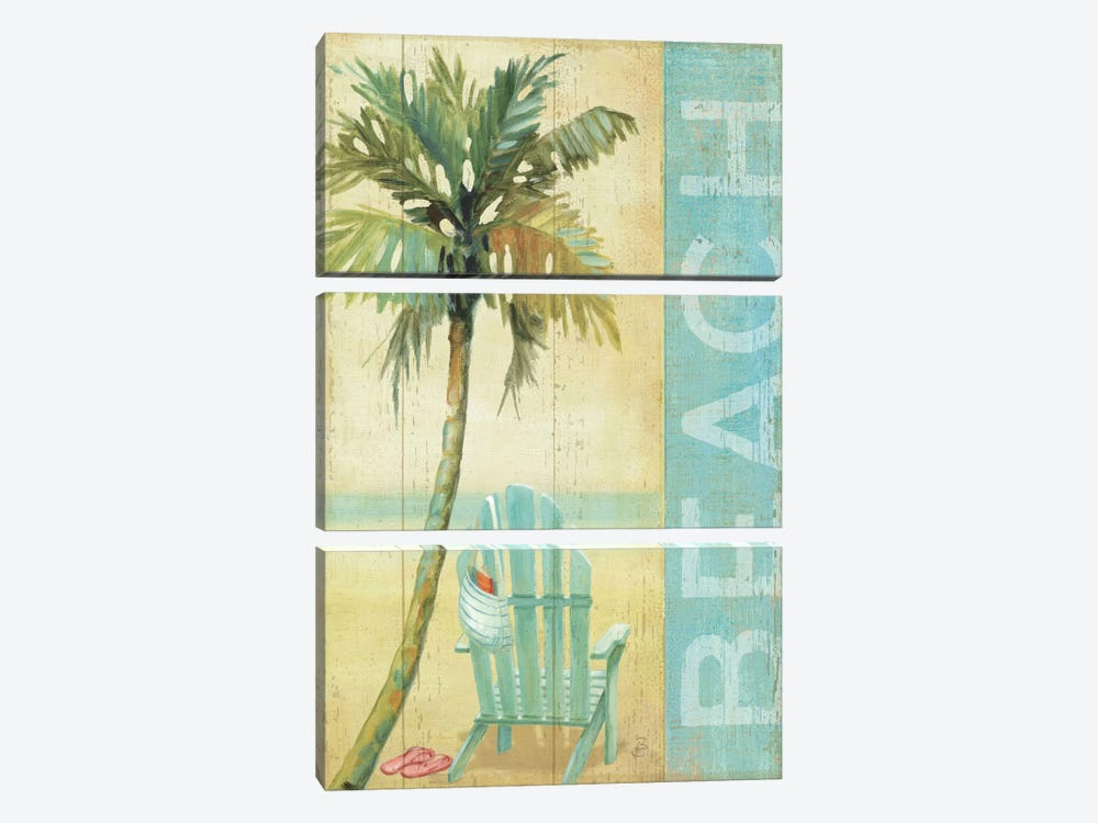 Ocean Beach I by Daphne Brissonnet 3-piece Canvas Art Print