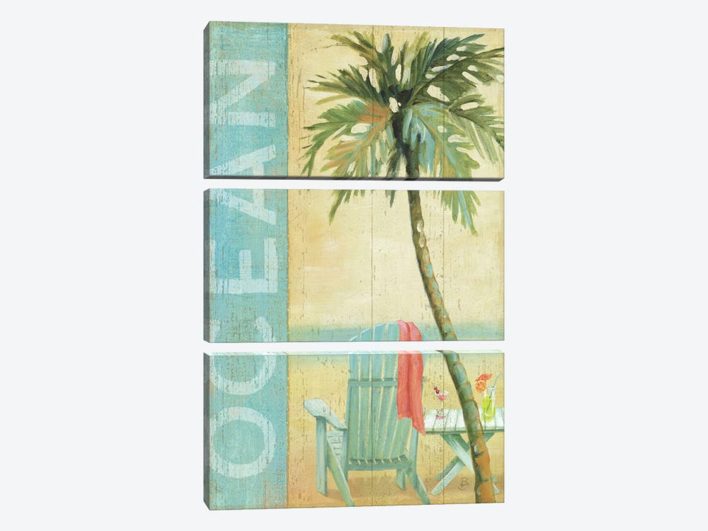 Ocean Beach II by Daphne Brissonnet 3-piece Canvas Wall Art
