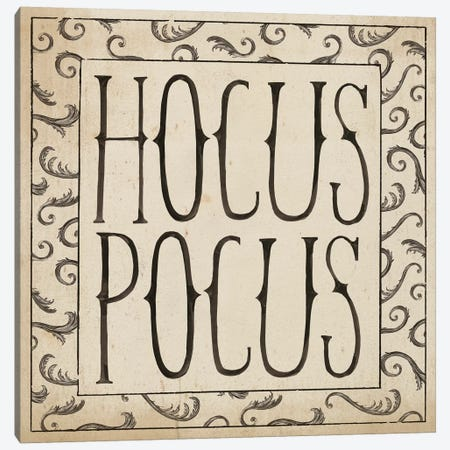 Hocus Pocus Square II Canvas Print #WAC3124} by Sara Zieve Miller Canvas Wall Art