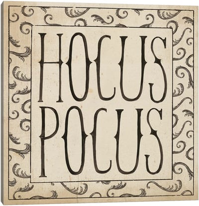 Hocus Pocus Square II Canvas Art Print