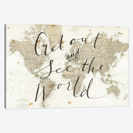 Get Out and See the World Canvas Print #WAC3125} by Sara Zieve Miller Canvas Artwork