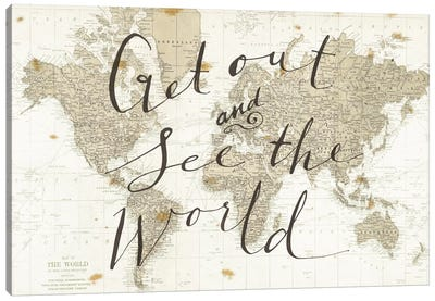 Get Out and See the World by Sara Zieve Miller Canvas Artwork
