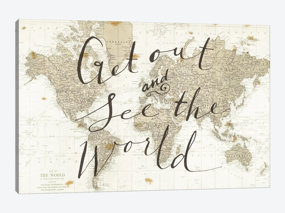 Get Out and See the World by Sara Zieve Miller 1-piece Canvas Artwork