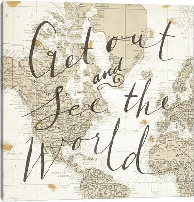 Get Out and See the World Square Canvas Art Print