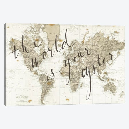 The World Is Your Oyster Canvas Print #WAC3127} by Sara Zieve Miller Canvas Wall Art