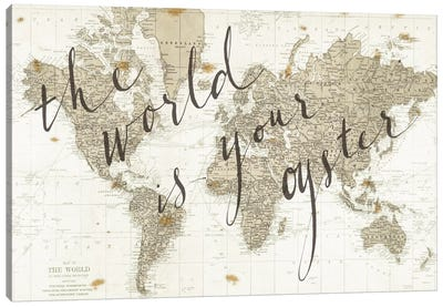 The World Is Your Oyster Canvas Art Print