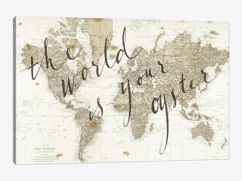 The World Is Your Oyster by Sara Zieve Miller 1-piece Canvas Wall Art