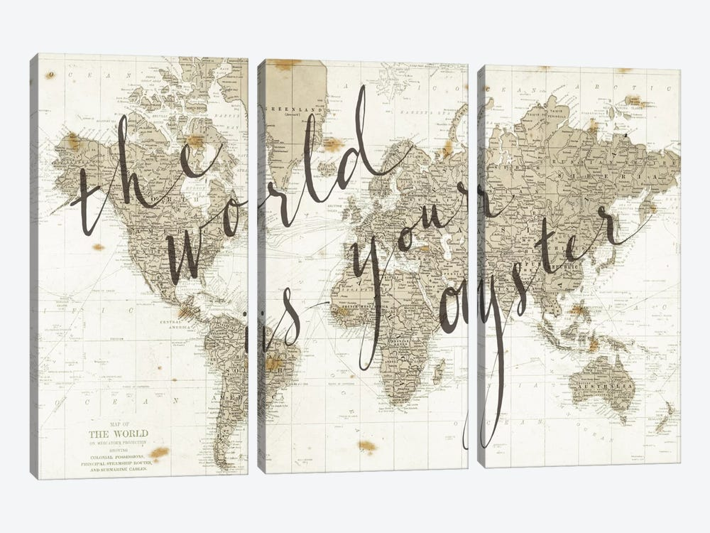 The World Is Your Oyster by Sara Zieve Miller 3-piece Canvas Art