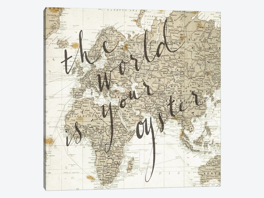 The World Is Your Oyster Square by Sara Zieve Miller 1-piece Art Print