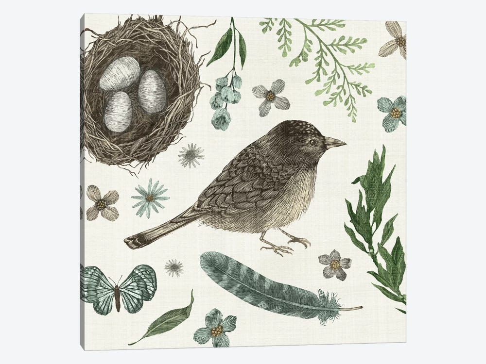 Springtime Nest I 1-piece Canvas Print