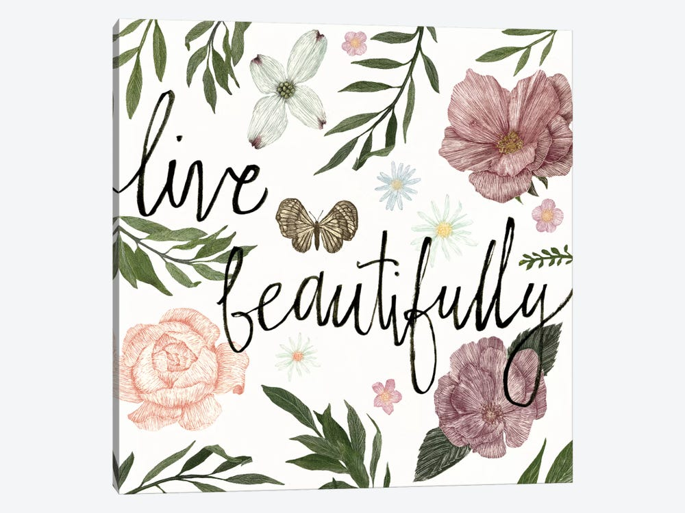 Live Beautifully by Sara Zieve Miller 1-piece Canvas Art Print