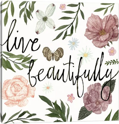 Live Beautifully Canvas Art Print