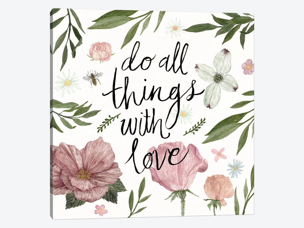 Live Beautifully Do All Things With Love by Sara Zieve Miller 1-piece Canvas Artwork