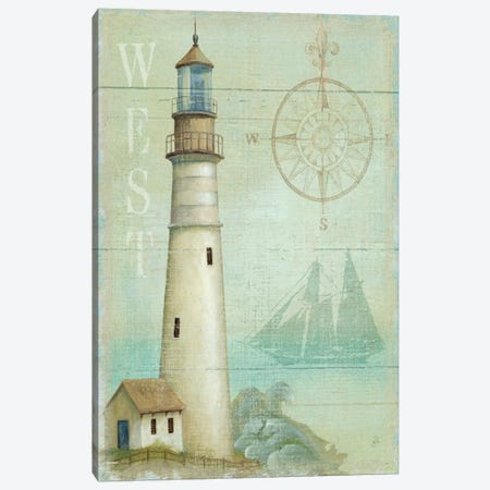 West Coastal Light Canvas Print #WAC313} by Daphne Brissonnet Canvas Art
