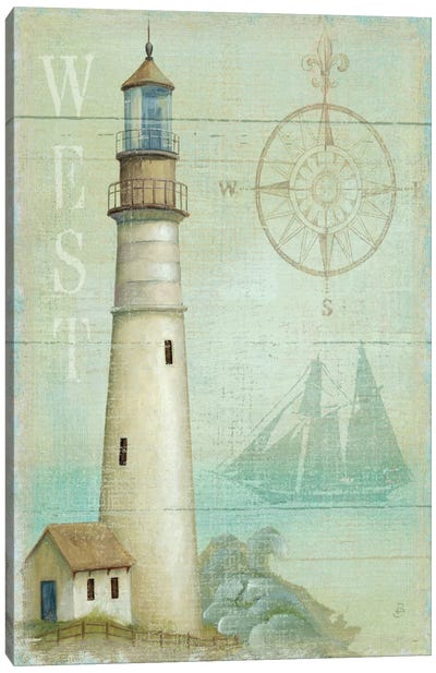 West Coastal Light Canvas Art Print