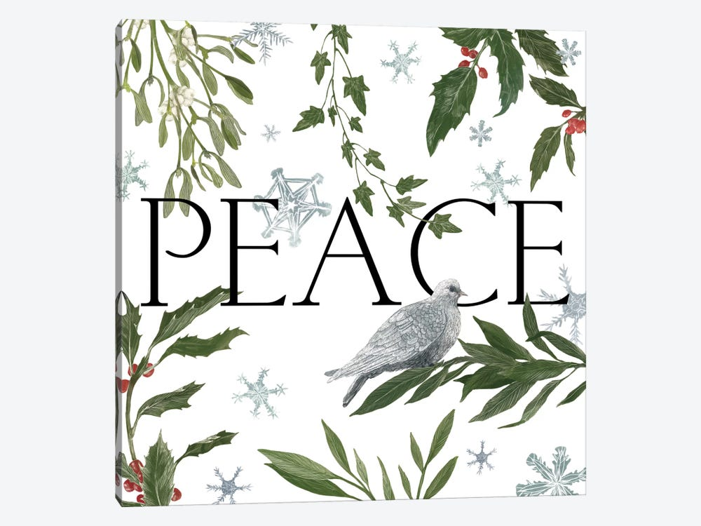 Peace And Joy I by Sara Zieve Miller 1-piece Canvas Art