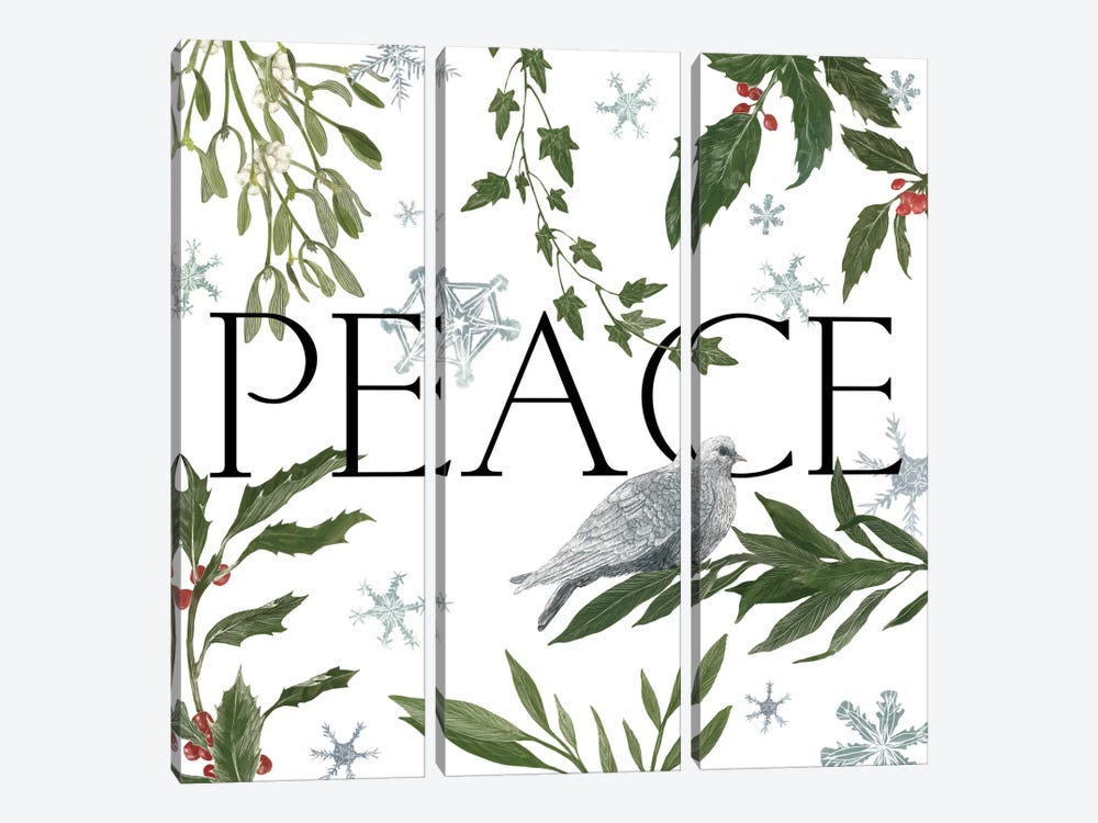 Peace And Joy I by Sara Zieve Miller 3-piece Canvas Art