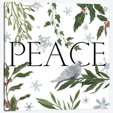 Peace And Joy I 3-Piece Canvas #WAC3141} by Sara Zieve Miller Canvas Art Print