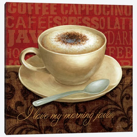 Coffee Talk I Canvas Print #WAC314} by Daphne Brissonnet Art Print