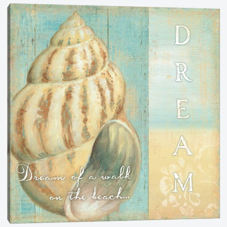 Soft Beach Quote II Canvas Print #WAC317} by Daphne Brissonnet Art Print