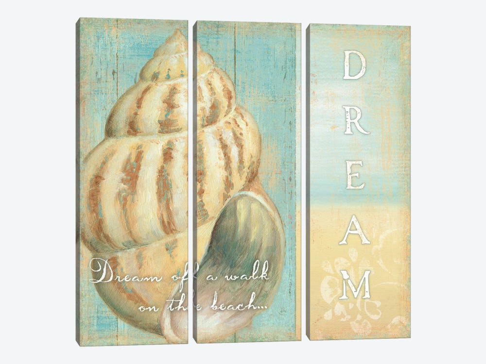 Soft Beach Quote II by Daphne Brissonnet 3-piece Canvas Wall Art