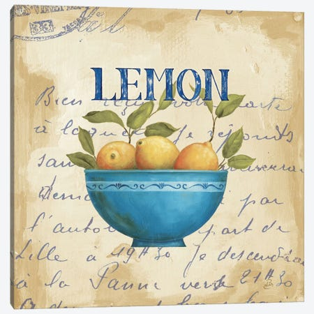 Zest of Lemons Canvas Print #WAC318} by Daphne Brissonnet Canvas Artwork
