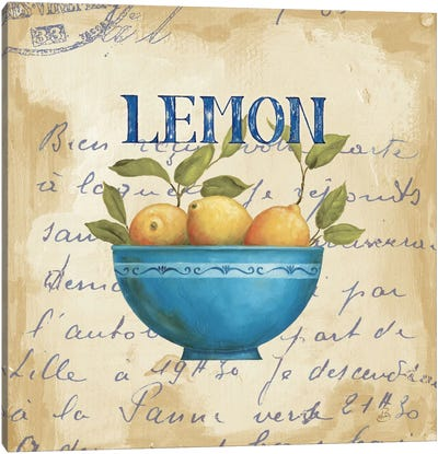 Zest of Lemons Canvas Art Print