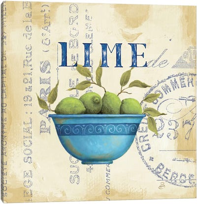 Zest of Limes Canvas Art Print