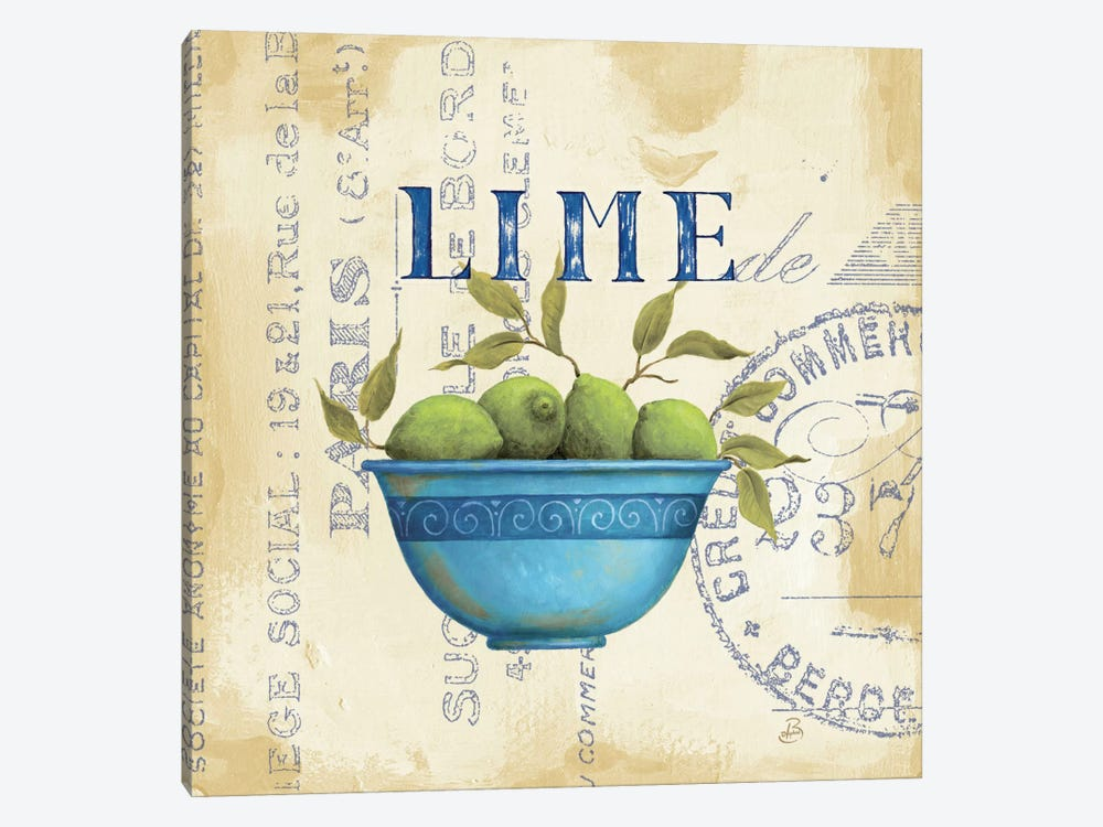 Zest of Limes by Daphne Brissonnet 1-piece Canvas Artwork