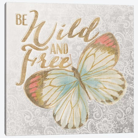 Textile Floral Butterfly IV 3-Piece Canvas #WAC3216} by All That Glitters Canvas Art