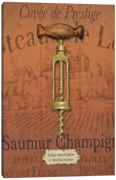 Antique Corkscrew II Canvas Art Print