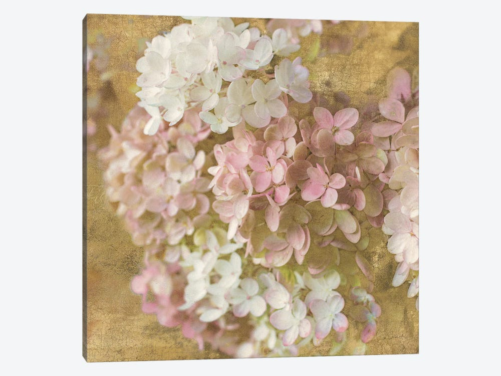 Gilded Hydrangea II by All That Glitters 1-piece Canvas Art Print