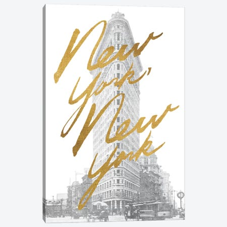 Gilded New York Canvas Print #WAC3222} by All That Glitters Canvas Artwork