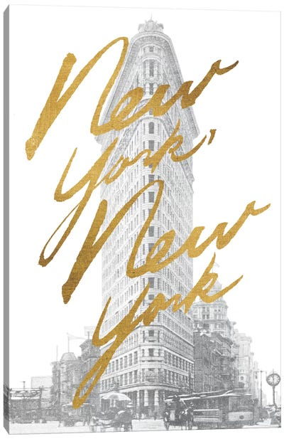 Gilded New York Canvas Art Print