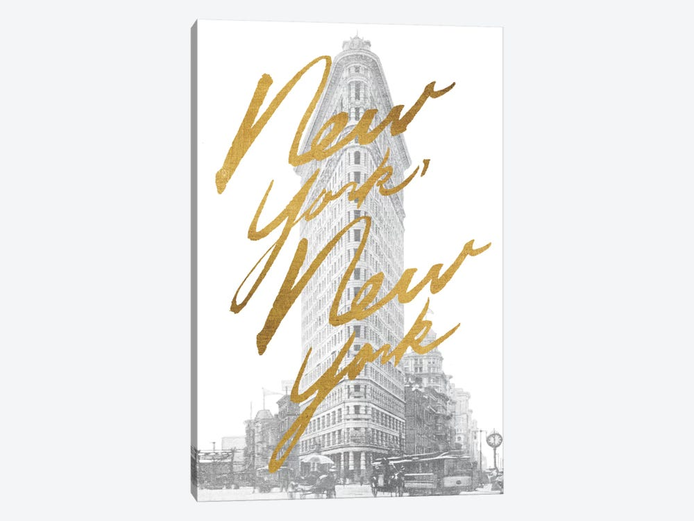 Gilded New York by All That Glitters 1-piece Canvas Art Print