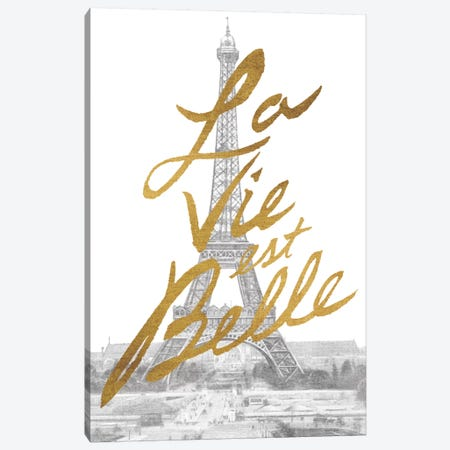 Gilded Paris Canvas Print #WAC3223} by All That Glitters Canvas Art